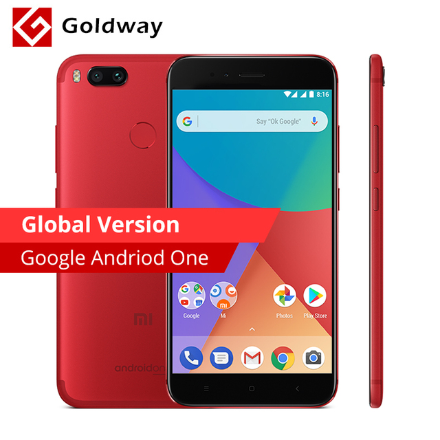 Global Version Xiaomi Mi A1 MiA1 Mobile Phone 4GB RAM 64GB ROM Snapdragon 625 Octa Core 12.0MP+12.0MP Dual Camera Android One