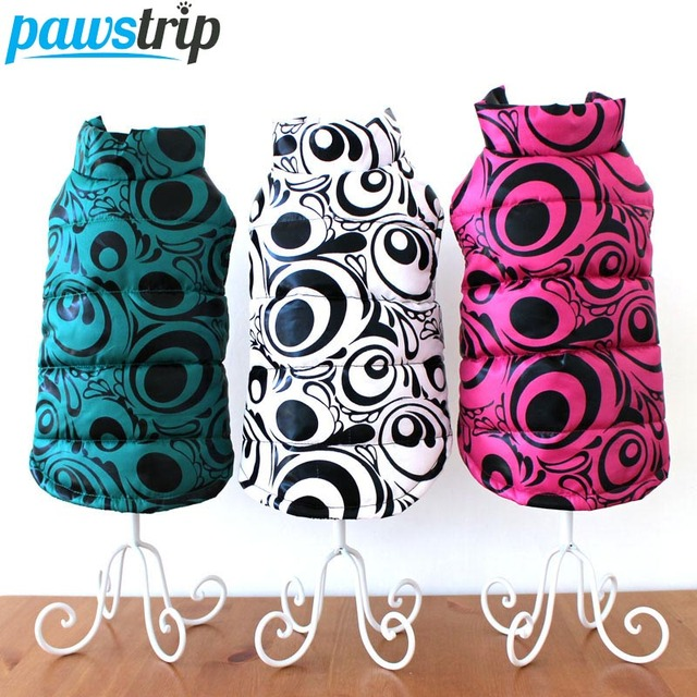 2017 New Print Pet Dog Coat Winter Puppy Jacket Outfit Warm Chihuahua Dog Clothes For Small Dogs