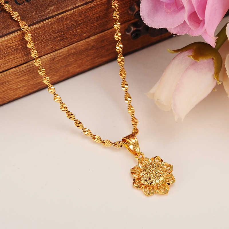 Afrika Emas Liontin Kalung untuk Wanita/Pria warna emas Perhiasan Pernikahan African Set Eritrea Habesha Ethiopia terbaik hadiah