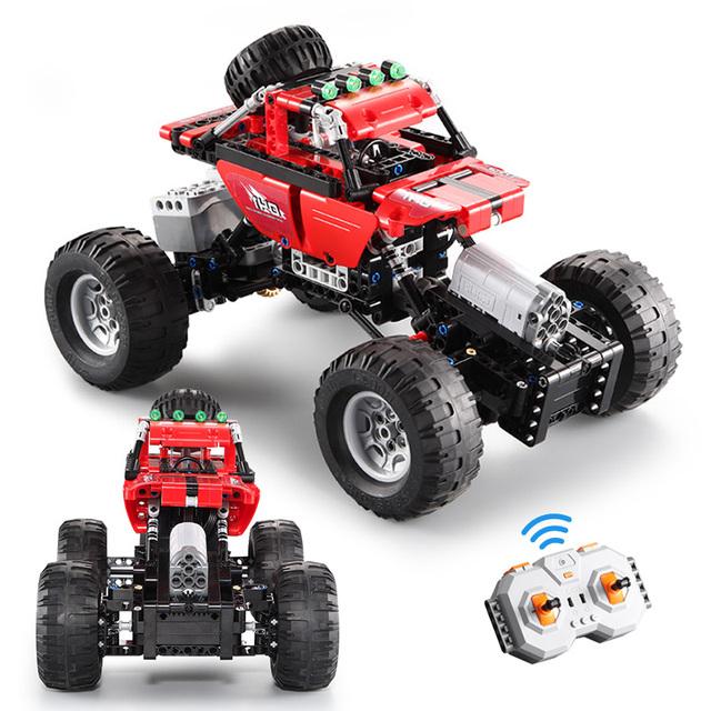 2.4Ghz City Off-Road Racing Building Blocks Technic RC All Terrain Off-Road Climbing Trucks Car Bricks Toys For Boys