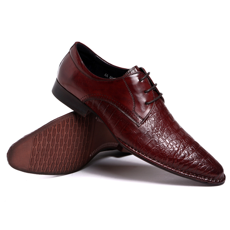 2018 new men crocodile genuine leather oxfords shoes spring autumn lace up male dress oxfords pointed toe wedding oxfords new arrival men casual business wedding formal dress genuine leather shoes pointed toe lace up derby shoe gentleman zapatos male