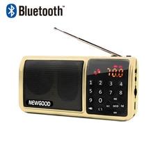 Bluetooth Fm Radio Portable Digital Micro Sd Radios Speaker Radio Receiver Aux TF USB Mp3 Player Speakers Flash drive FlashLight