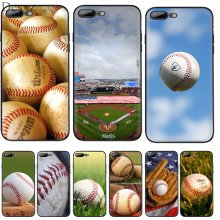 Teléfono Celular funda de silicona TPU para iPhone 7 7 6 6 Plus iPhone 6s Plus 11 Pro X XS X Max XR funda de 5 5S SE para cancha de béisbol deportiva(China)