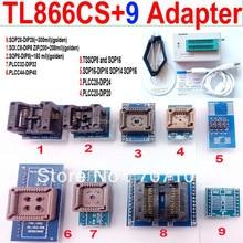 Tl866cs programmeur + 9 adaptateurs universels PLCC Extractor TL866 AVR PIC Bios 51 MCU EPROM Flash programmeur russe anglais manuel