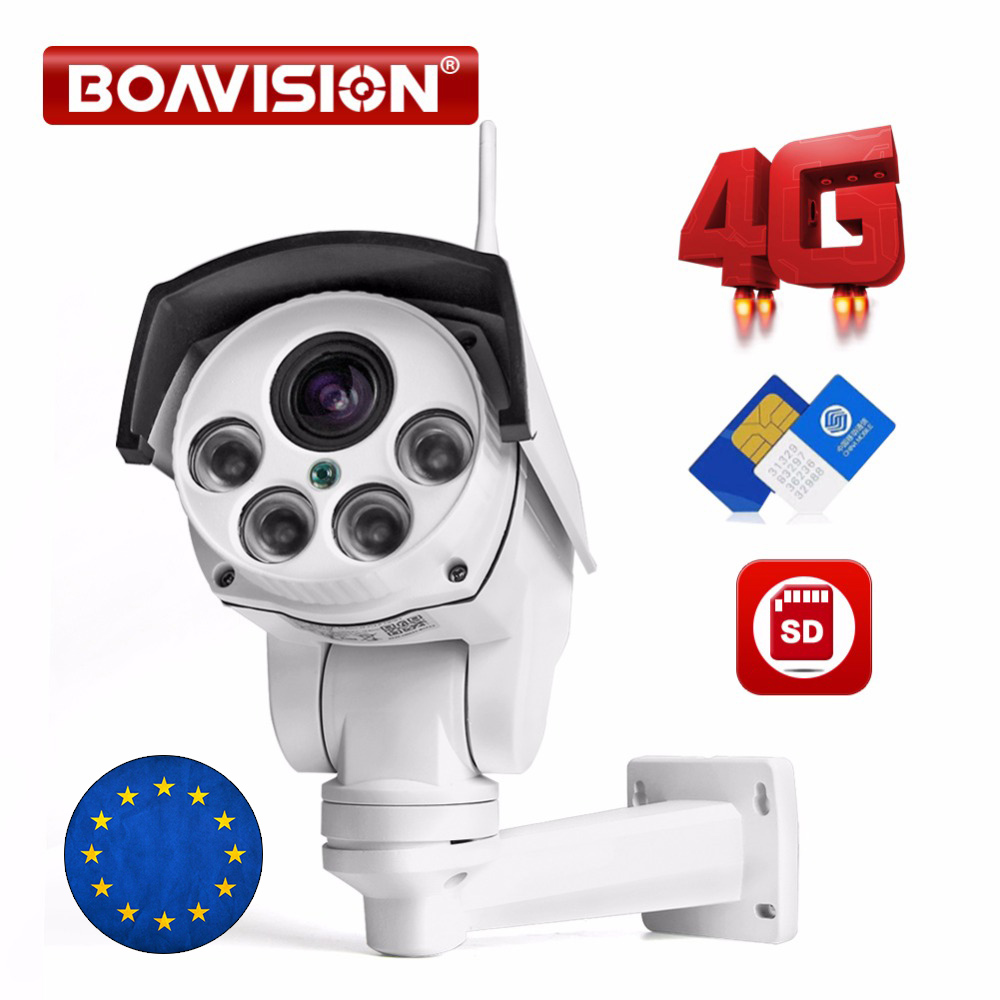 1080P 3G 4G Bullet PTZ IP Camera Outdoo 5X 10X Optical Zoom SIM Card Camera 2MP