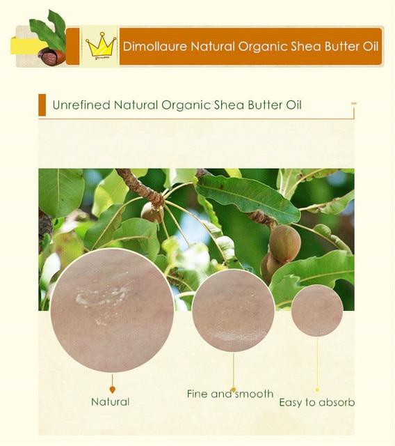 Dimollaure 50g-500g Organic Shea Butter Unrefined skin care hair care body massage oil DIY Base oil handmade soap Esential oil 4