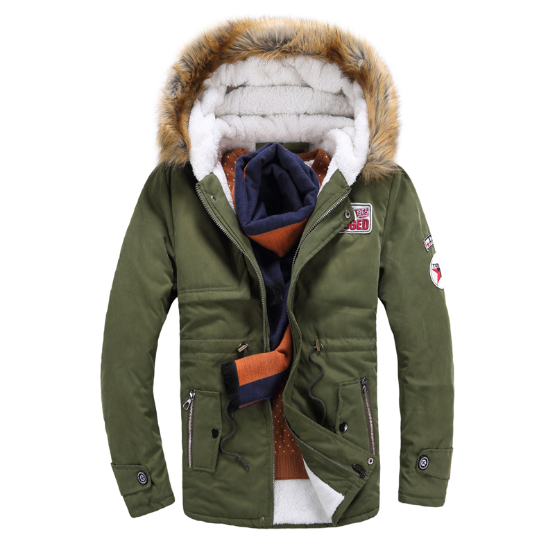 2016 Winter New Style Warm Men s Jacket Parka Thick Warm Fur Collar Long Cotton Jacket