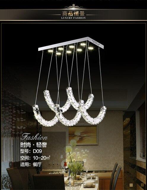 Neue Mode Edelstahl Restaurant Kristall Decke Led Lampen Fr Die Wohnzimmer Deckenleuchte Spannung 90