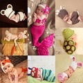 Newborn Cute Animals Crochet baby costume photography props knitting hat infant baby photo props new born baby girls outfits