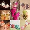 Recém-nascidos Bonitos Animais traje Crochê bebê adereços fotografia tricô chapéu infantil do bebê da foto adereços bebê recém-nascido meninas outfits
