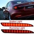 Mazda 3 rojo LED Rear Bumper Reflector de parada del freno luz trasera inversa Mazda3 Axela ( CA173 )
