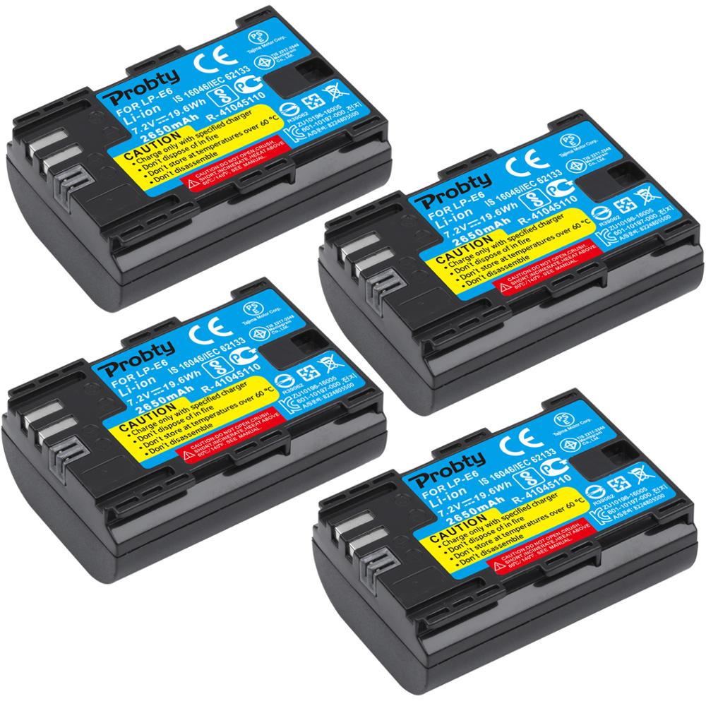 10 PCS LP E6 LP E6 LP E6N E6 Battery 2650mAh For Canon EOS 5DS R