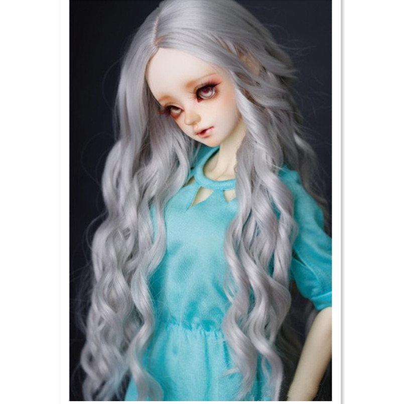 1/3 BJD Doll Wigs High Temperature Wire Long Wavy Hair for Dolls,Fashion Synthetic Doll Hair Accessories for Dolls Head 22-24CM