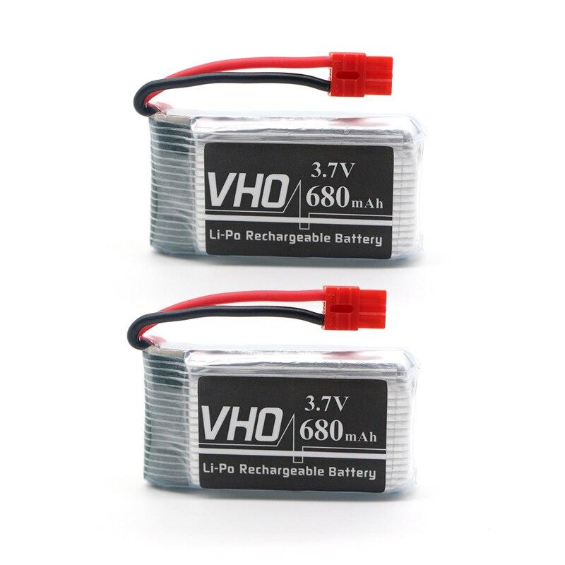 VHO 2PCS 3.7V 680mAh Battery Syma X5HC X5HW RC Quadcopter Spare Parts 3.7V 680mAh Battery RC Camera Drone Accessories 5pcs lot syma x13 quadcopter parts 3 7v 200mah battery