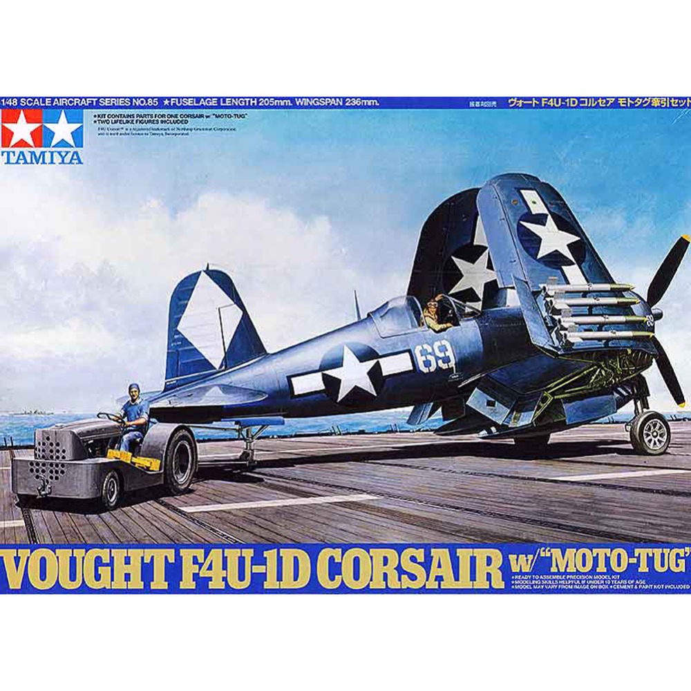 OHS Tamiya 61085 1/48 Vought F4U-1D Corsair w/ Moto-Tug Assembly Airforce Model Building Kits G цена