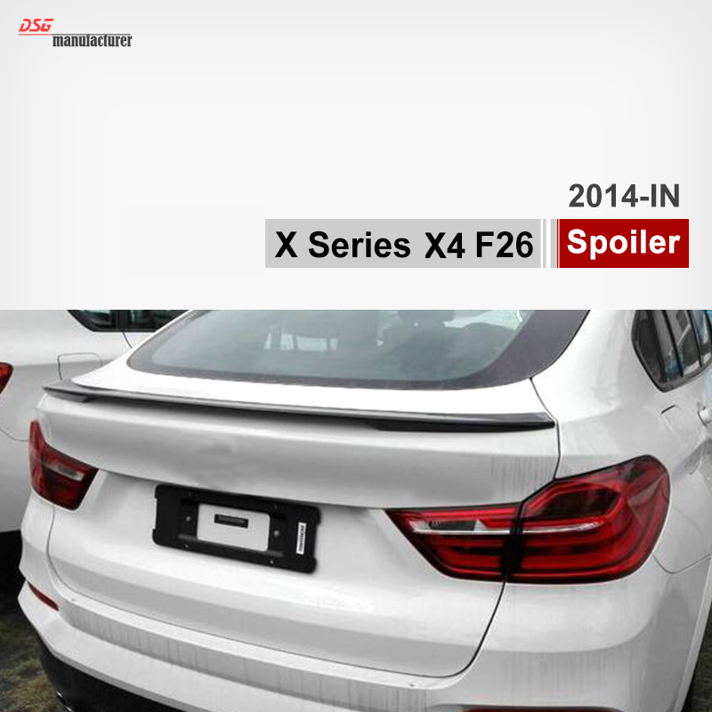 F26 M Style 2014 2015 2016 For BMW X4 F26 Carbon Fiber Car Rear Trunk Spoiler Add On for Back Spoiler Wing x3m x4m style durable abs front hood grill for 2014 2015 2016 bmw x4 f26
