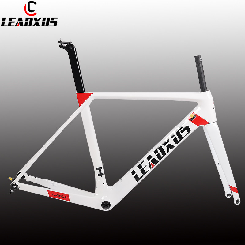 LEADXUS 2019 Newest Disc Brakes Carbon Road Bike Frame T800 Thru Axle Disc Brake Carbon Fiber Bicycle Frame XS/S/M/L/XLLEADXUS 2019 Newest Disc Brakes Carbon Road Bike Frame T800 Thru Axle Disc Brake Carbon Fiber Bicycle Frame XS/S/M/L/XL