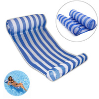 Stripe Swimming Pool Floats Air Mattress Inflatable Sleeping Bed Water Hammock Lounger Chair Float Summer Fun Toys