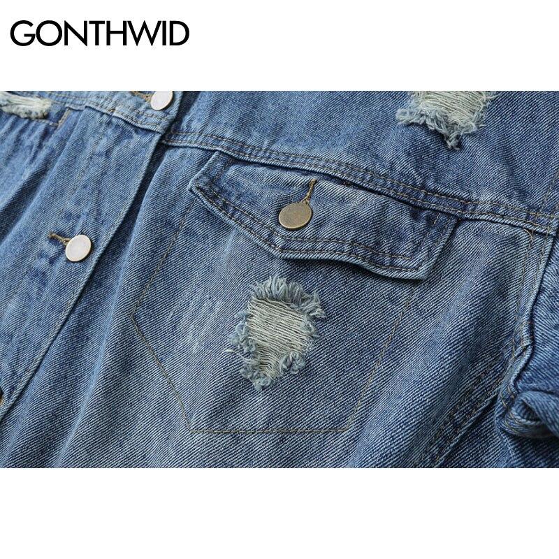 Zerrissene jeansjacke herren