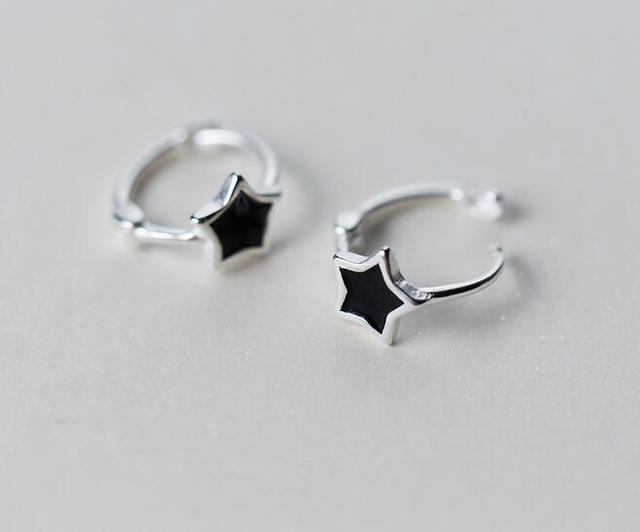 Sterling Silver Star Earrings (8mm) yhlzf