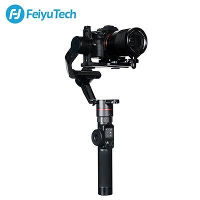 FeiyuTech AK2000 DSLR Camera Stabilizer Handheld Cardan com Anel de Foco para Canon Sony Panasonic 5D GH5 Nikon 5D 2.8 kg payload