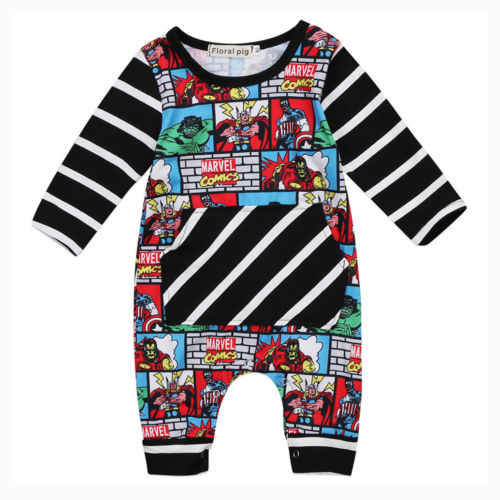 c5312c3cb 2017 New Arrival Cartoon Rompers Baby Kid Boy Outfit Clothes Superhero  Jumpsuit Cotton Newborn Toddler Infant
