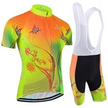 Top tasa de fluorescencia mujeres ciclismo establece bxio marca roupas de ciclismo bicicleta de carretera ropa de bicicletas de manga corta equipación 120