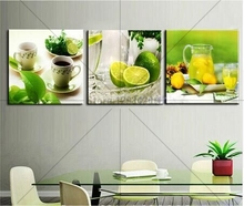 diamond embroidery fashion home decor diy painting lemon cup handwork resin rhinestones mosaic triptych picture