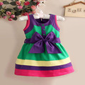 girls Rainbow dress  princess girls dresses children's clothes 1-2-3-4-5 year