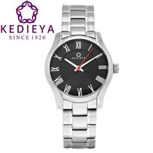 KEDIEYA Womens Silver White Black 316L Stainless Steel Waterproof Watches Ladies Dress Watch Gifts