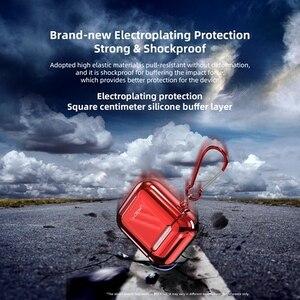 Image 5 - علبة واقية مطلية بالكهرباء من روك لأجهزة Airpods غلاف قوي لسماعة أذن Apple Airpods 1 2 غطاء حماية مطلي بالكهرباء