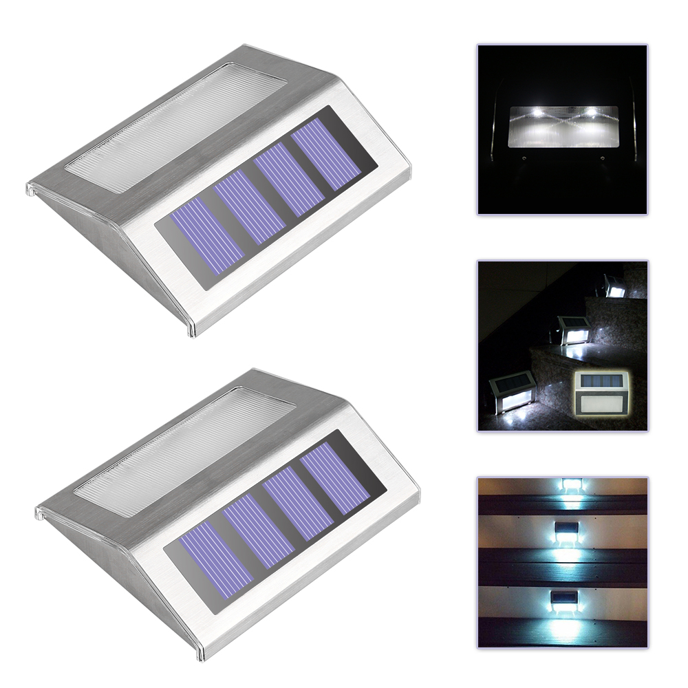 Aliexpress.com : Buy 2pcs LED Solar Powered Wireless Stairway Light Lamp  Pathway Step Wall Mounted Stairs Path Landscape Garden Floor Wall Patio Lamp  from ... - Aliexpress.com : Buy 2pcs LED Solar Powered Wireless Stairway