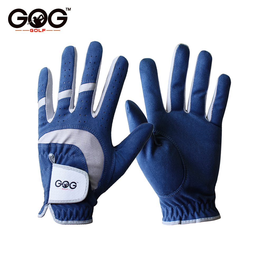2017 Free Shipping Professional golf gloves Breathable Blue Soft Fabric Brand GOG Golf Glove Left Hand Super Fine Sports Glove