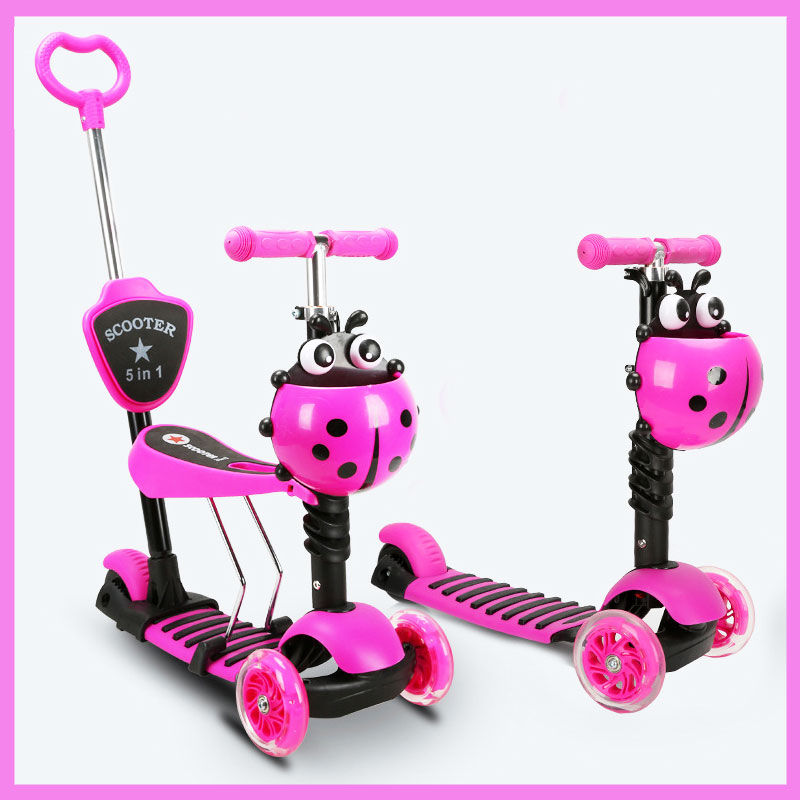 4 In 1 Children Kids Electric Scooters with Seat Baby Walker Flash Wheel Tricycle Scooter Stroller 15km/h  2~13 Years child skateboard car foot scooters breaststroke scooter kick scooters children best birthday gift tb331116