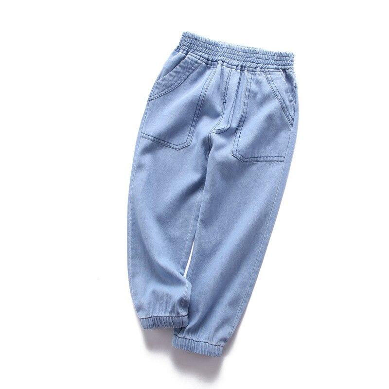 2019 Di Estate Del Bambino Dei Pantaloni Del Ragazzo Pantaloni Stile Harem Ragazzi Dei Vestiti Dei Bambini Dei Ragazzi Dei Pantaloni Tasche Di Stampa Bambini Di Sport Di Usura Jean Ragazzo Dei Pantaloni Freddi