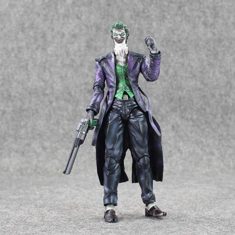 Play Arts KAI Batman Arkham Origins NO.4 The Joker PVC Action Figure Collectible Toy 26cm batman the arkham city arkham origins the joker pvc action figure collectible model toy new in box wu439