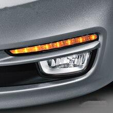 Для RU KIA RIO K2 2015 2016 супер яркий автомобиль укладки 8 СВЕТОДИОДНЫЙ DRL дневного света туман лампы модификация поворотники яркий