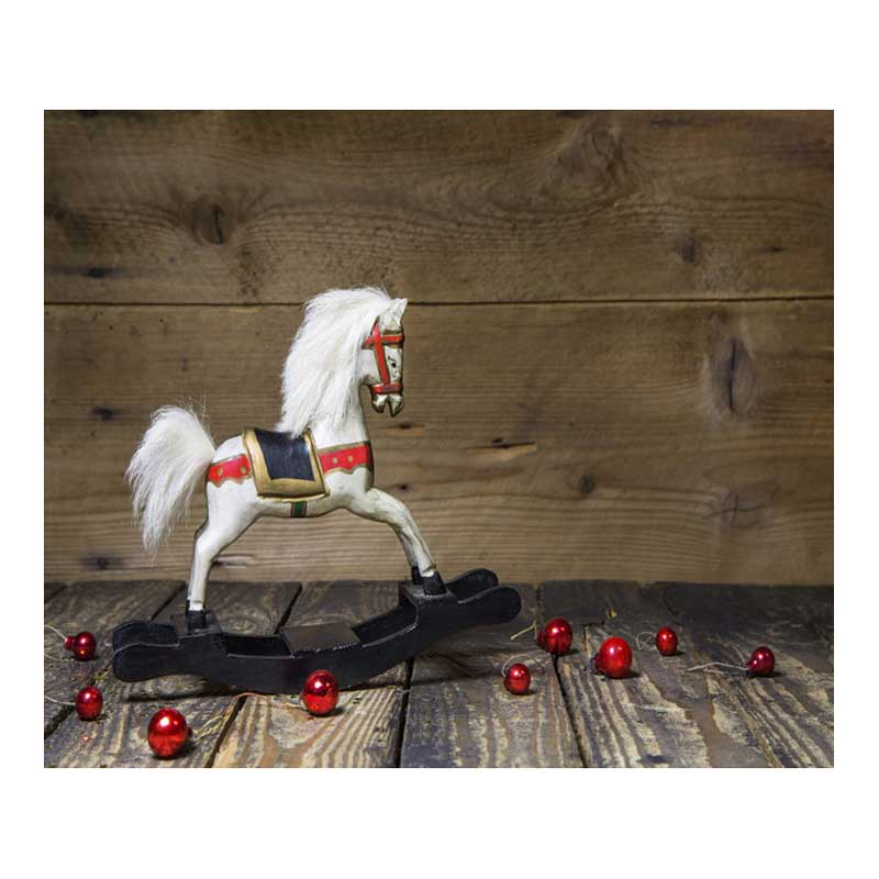Wooden Plank Hobby Horse 7X5ft Christmas Backdrop Photography Photo Studio Computer Painted Photographic Background For Children