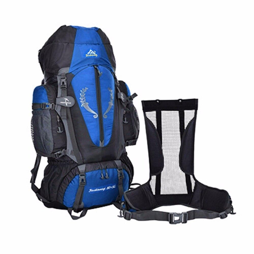 ФОТО 85L Large Capacity Outdoor Hiking Climbing Waterproof Backpack Men Outdoor Sport Backpacks Travel Backpacks
