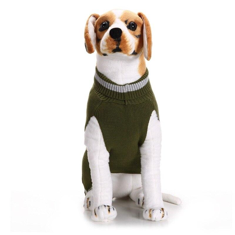 Puppy Dog Sweater Knitwear Turtleneck Skull Pattern Knitted Doggy