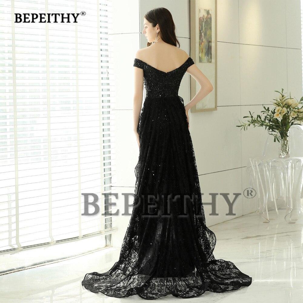 Image 2 - BEPEITHY New Design Black Lace Long Evening Dresses Party Elegant 2019 Robe De Soiree Mermaid Prom Dress With Lace Skirt-in Evening Dresses from Weddings & Events