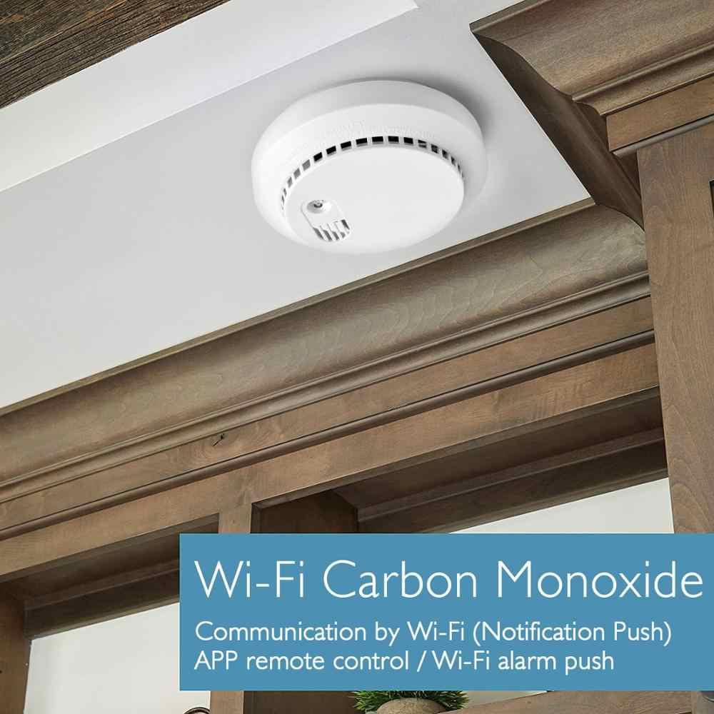 Умный дом Lonsonho Tuya Smartlife, детектор угарного газа, Wi-Fi, датчик дыма, автоматизация умного дома
