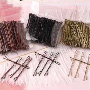 100PSC/Set Alloy Solid Color Hairpins For Women Wavy Type Invisible Hair Clip Girls Hair Accessories Bobby Pins Hair Grips