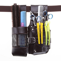 Pro Salon Leather Rivet Waist Bag Hairdresser Stored Scissor Combs Clips Hair Styling Tools Cortical Barber