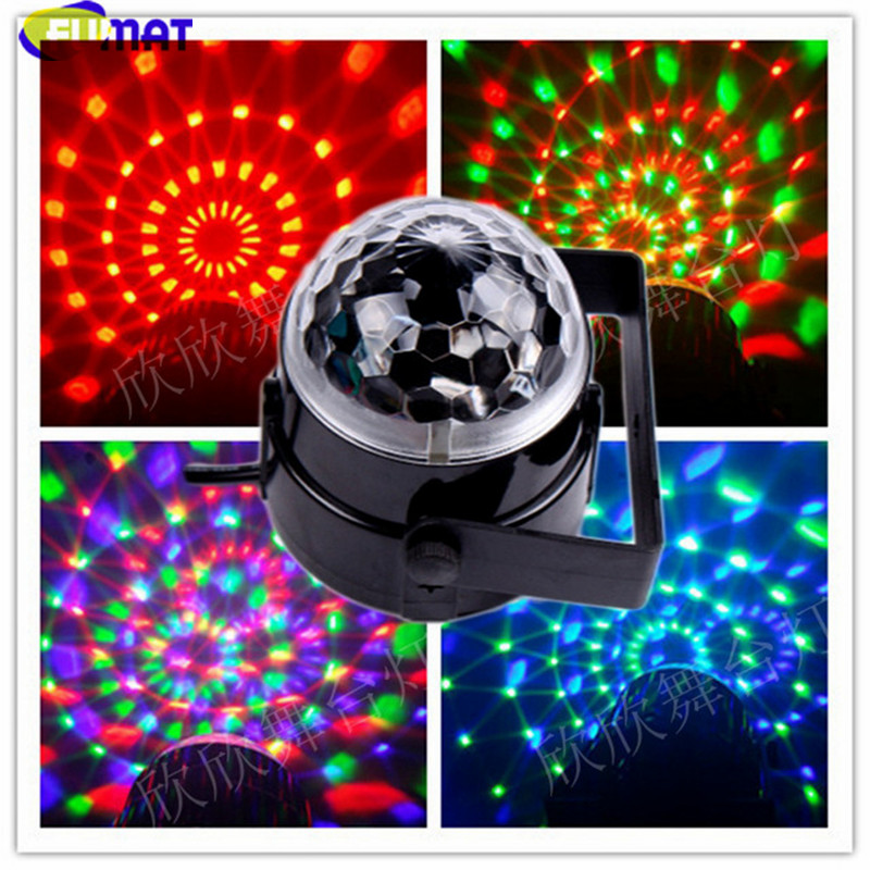 FUMAT Charging Magic Ball Light Colorful Small Strobe Light Rotation Lamp KTV Bar Flash Lamp Sound Control LED Stage Lighting