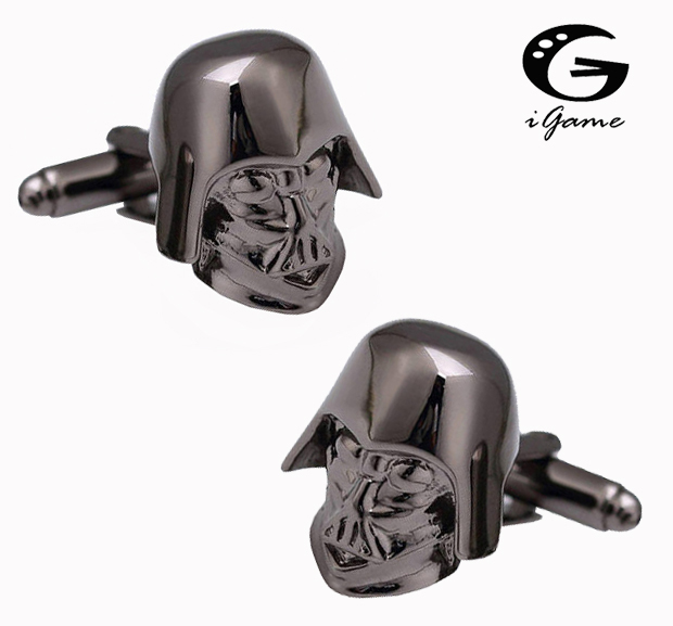iGame Darth Vader Cuff Links 2 Colors Option Star Wars Film Design Free Shipping image