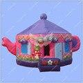 Nuevo Diseño de $ number pies/3 m Inflable Lindo Teapot Bouncy Castle House/Atractiva Pintura de la Mano/Seguro y Fuerte casa de Brinco inflables