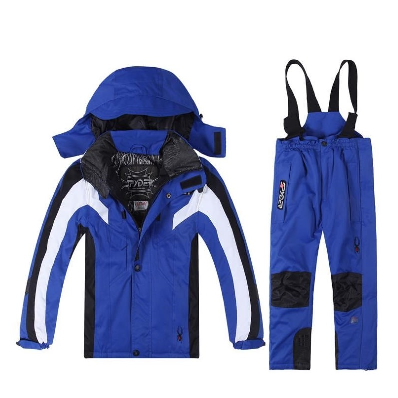 1a0afc117 Boys and girl Ski Sets Winter Waterproof Windproof Kids Ski Jacket Children  Outdoor Warm Hooded Snowboard Sports Suits