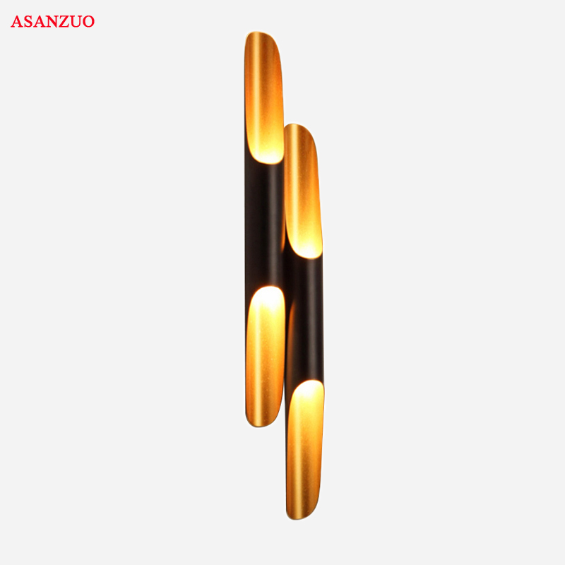 Nordic Industrial retro Wall Lamp Aluminum Circular Tube LED Wall Lights living dining bedroom Home Decorative LightingNordic Industrial retro Wall Lamp Aluminum Circular Tube LED Wall Lights living dining bedroom Home Decorative Lighting