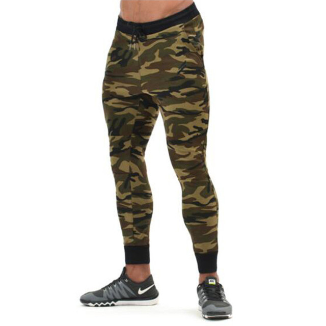 Men's Runs Camo footballs Soccers Pants Leggings Fitness Joggings Trouser Tights active Trainings Gyms Clothing male Camouflage